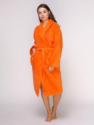 Халат оранжевый махровый | 4635914