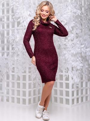 Платье цвета марсала   4653856