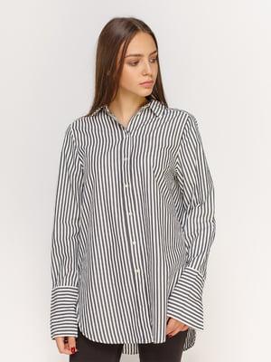 Сорочка біла в смужку | 4613503