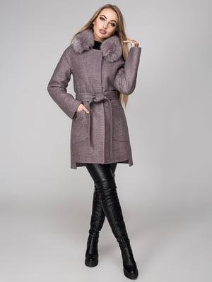 Пальто серо-розовое | 4654460