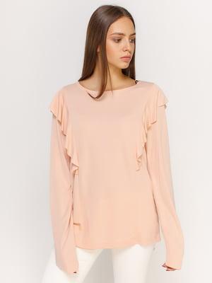 Блуза кольору пудри | 4598570