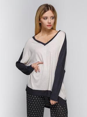 Пуловер сіро-чорний | 4478080