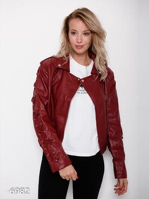 Куртка бордовая | 4621111