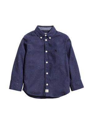 Рубашка темно-синяя меланжевая | 4645131