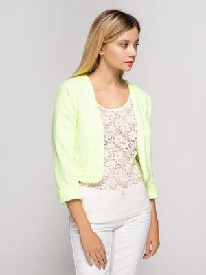 Жакет лимонного кольору | 4619076