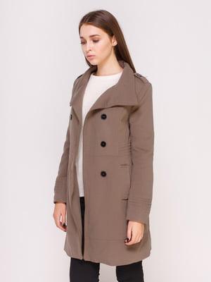 Пальто бежевое | 4620362