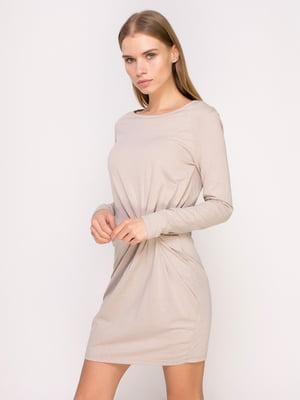 Платье бежевое | 4622603