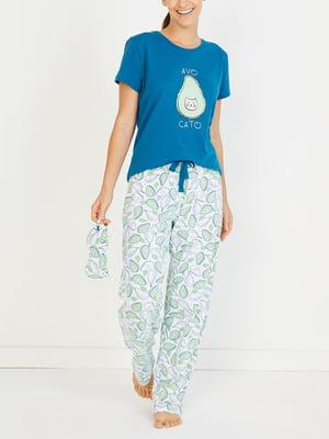 Пижама: футболка и брюки   4632842