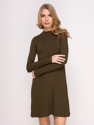 Сукня кольору хакі | 4621575