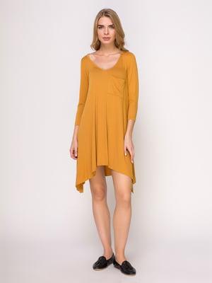Платье горчичного цвета | 4621574