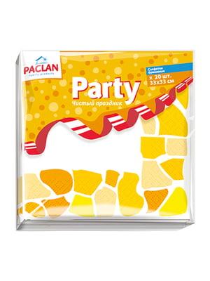 Серветки паперові тришарові Free Time Party (33х33 см) | 4498325