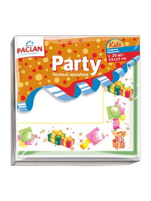 Серветки паперові тришарові Kids Party (33х33 см) | 4498326