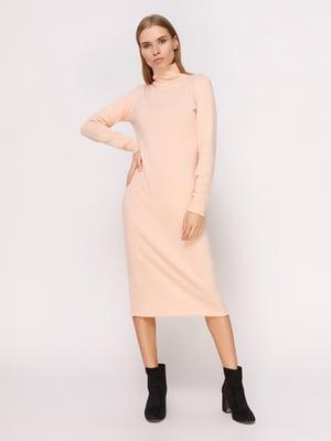 Сукня-гольф пудрового кольору   4660696