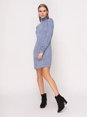 Платье-гольф серо-голубое   4660700