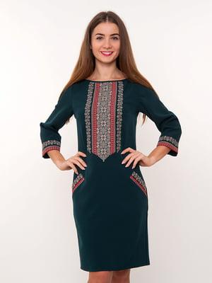 Сукня зелена з вишивкою | 3898893