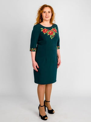 Сукня зелена з вишивкою | 4658582