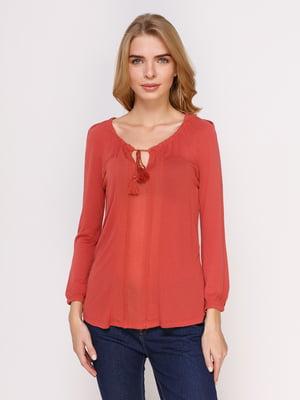 Блуза цегляного кольору | 4622719