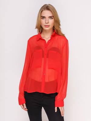 Рубашка ярко-красная   4622772