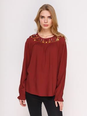 Блуза кирпичного цвета   4622542