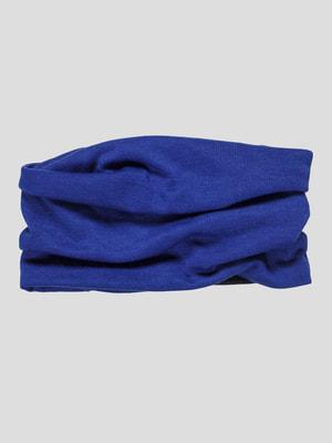 Повязка на голову синяя | 4626355