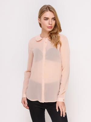 Рубашка пудрового цвета   4622713