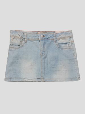Спідниця блакитна джинсова | 4626826