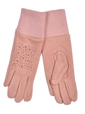 Перчатки розовые подростковые | 4634497