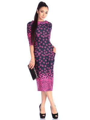 Платье сине-розовое | 4629366