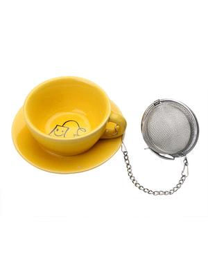 Підставка під чайні пакетики з металевим фільтром (3,5х8х8 см) | 4662997