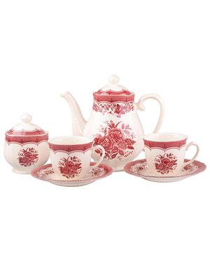 Чайний набір «Вікторія пінк» на 6 персон | 4663074