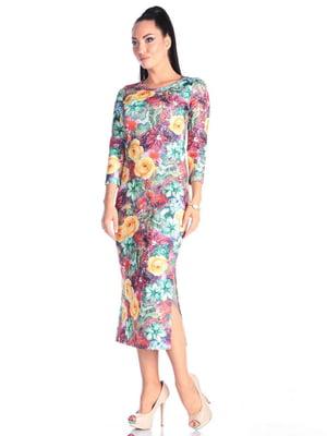 Платье в принт | 4614812