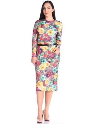 Платье в принт | 4637150