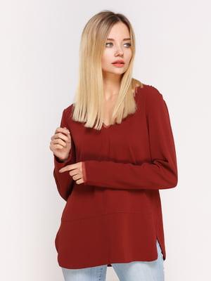 Пуловер кирпичного цвета | 4622541