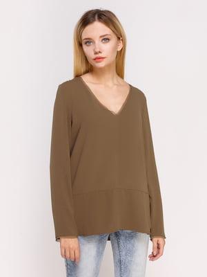 Пуловер цвета хаки | 4622533