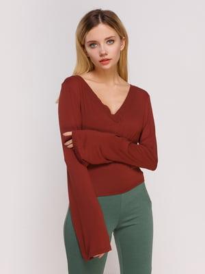 Пуловер бордовый | 4622869