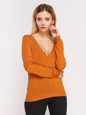 Пуловер горчичного цвета | 4622432