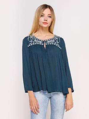 Блуза цвета морской волны   4622537