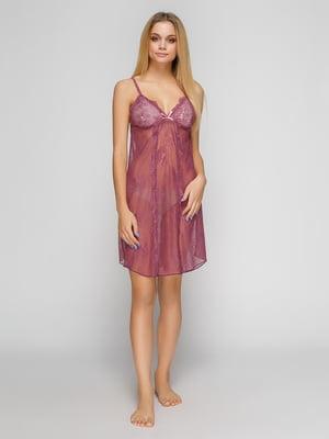 Сорочка нічна фіолетова | 4631317
