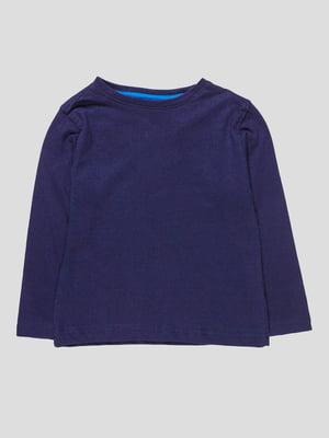 Лонгслів темно-синій | 4621609