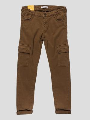 Штани коричневі | 4621312