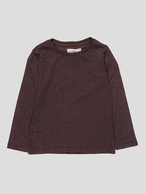 Лонгслів темно-коричневий | 4621538