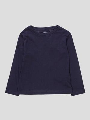 Лонгслів темно-синій | 4621992
