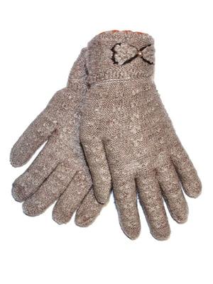 Перчатки бежевые   4507601