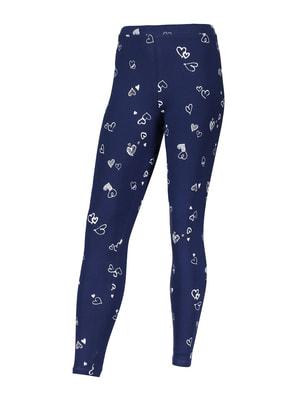 Легінси сині з принтом | 4580675