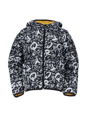 Куртка чорна з принтом | 4666287