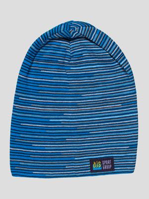 Шапка синяя в полоску | 4659320