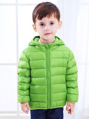Пуховик зелений | 4670585