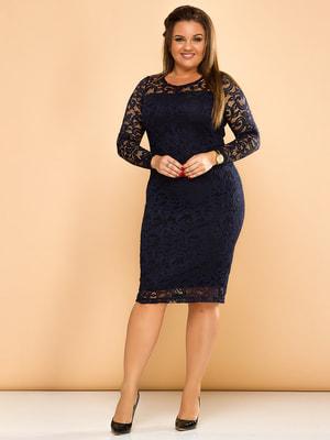 Платье темно-синее   4669781