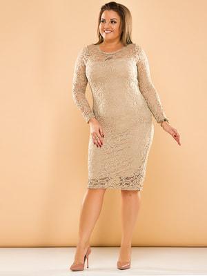 Платье бежевое   4669784