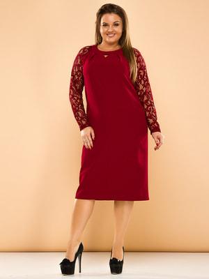 Платье бордовое | 4669848